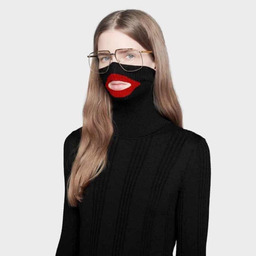 Gucci's 'Blackface' polo neck and balaclave combo.
