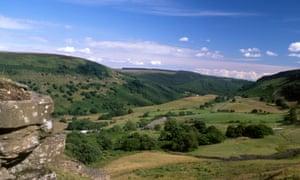 Sirhowy Valley near Tredegar Blaenau Gwent, south Wales valleys