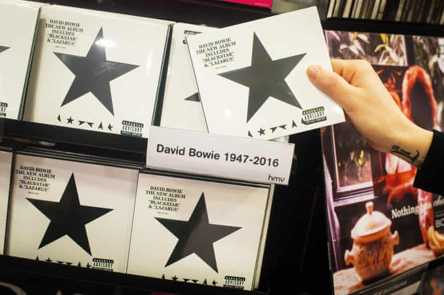 Blackstar on sale after Bowie's death on 10 January.