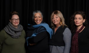 Ilbijerri Theatre Company's executive producer Lydia Fairhall, artistic director Rachael Maza, Louisa Briggs's great-great-granddaughter Caroline Martin, and creative director Kamarra Bell-Wykes.