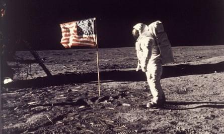Astronaut Edwin E Aldrin on the moon.