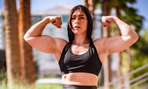Kortney Olson, Australia's women's armwrestling champion and powerlifter, says: 'I love muscle. That's just my thing.'