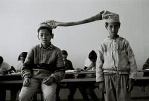 Hicham Benohoud: untitled from the series LA SALLE DE CLASSE 1994-2000