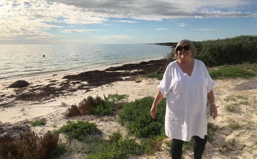 Kerrie Lorimer stands on a beach in Western Australia