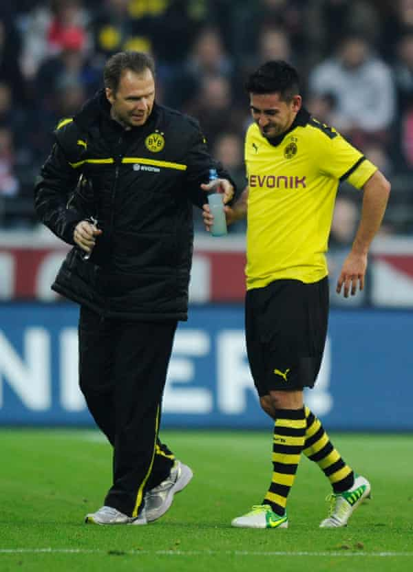 Gundogan sustained a series of injuries at Dortmund, the worst being a serious back injury in 2014.
