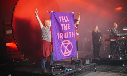 Extinction Rebellion's Rebel Rebel stage at this year's Bluedot festival in Cheshire