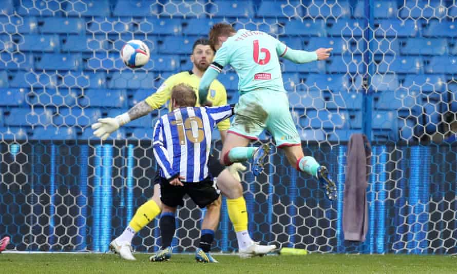 Jay Fulton of Swansea City scores their second goal in a 2-0 win against Sheffield Wednesday on Tuesday.