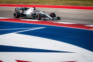 Lewis Hamilton on his way to clinching the title in Austin