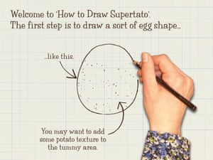 How to draw Supertato2