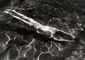 Underwater Swimmer, Esztergom, Hungary, 1917 by André Kertész, from the Tate Modern show The Radical Eye