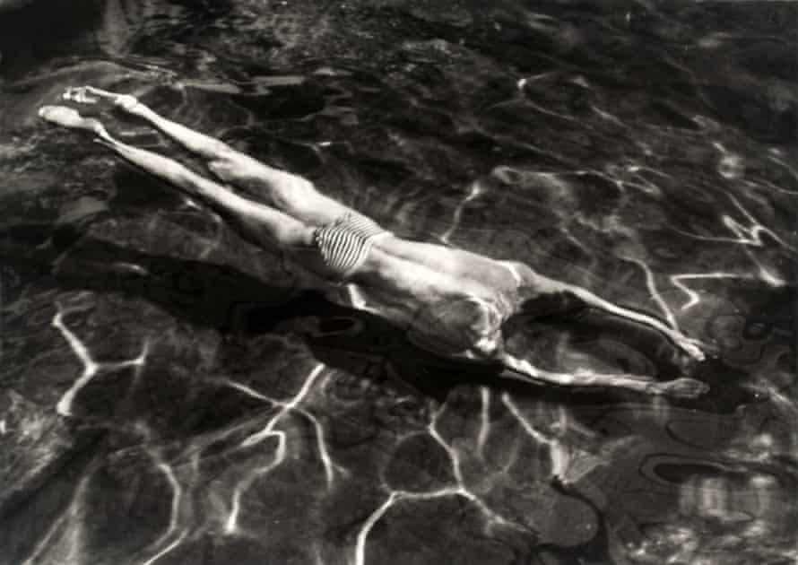 Underwater Swimmer, Esztergom, Hungary, 30 June 1917, by André Kertész