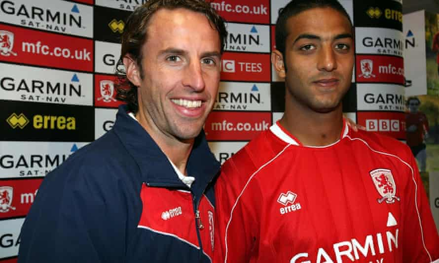 Mido with Gareth Southgate during their Middlesbrough days