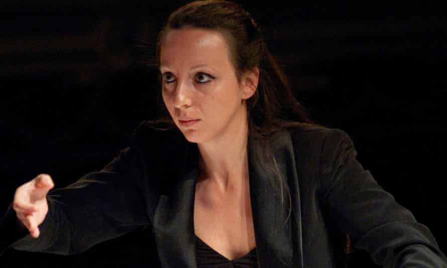 Disciplined … Valentina Peleggi conducting the BBC National Orchestra of Wales.
