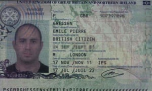 A scan of Emile Ghessen's passport, published by the Croatian interior ministry