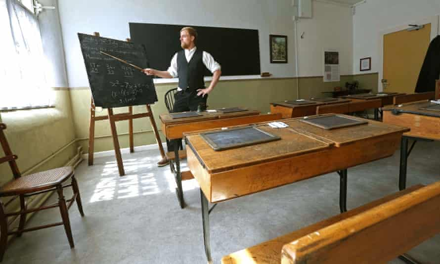 Teacher in costume at Ripon Workhouse Museum
