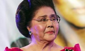Imelda Marcos at her 90th birthday celebration in Manila, Philippines