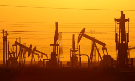 Pump jacks are used in an oil field near Lost Hills, California. A proposal by the Trump administration would bring fracking back to the state after a five-year moratorium.