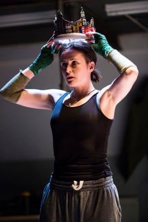 Clare Dunne as Hal in Henry IV. Shakespeare Trilogy Donmar, Kings Cross