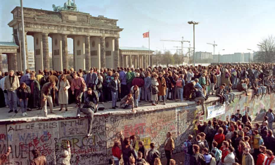 The Berlin Wall falls in November 1989