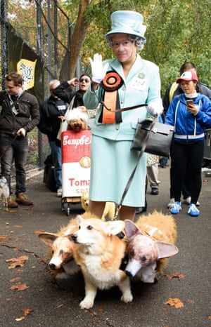 The Queen of England attended with her corgis