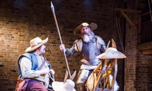 Rufus Hound as Sancho and David Threlfall in the title role of the RSC's production of Don Quixote.