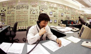 A control room agent at the Indian Point nuclear power plant.