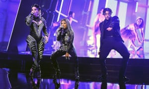 Ivy Queen, Nesi and Bad Bunny representing Puerto Rico