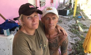 Christy Clark and Tim Lance stuck out the hurricane in Marathon on the Florida Keys.