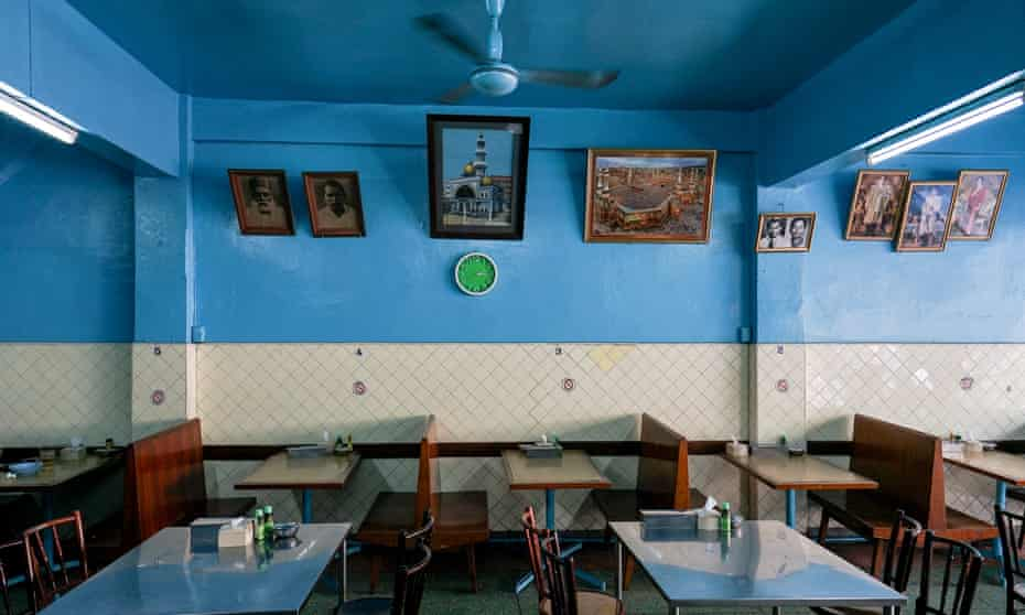 Seating at Muslim Restaurant, Bangkok, Thailand