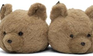 vetements beige bear slippers