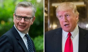Michael Gove and Donald Trump.