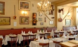 Interior of Le Trumilou restaurant, Paris