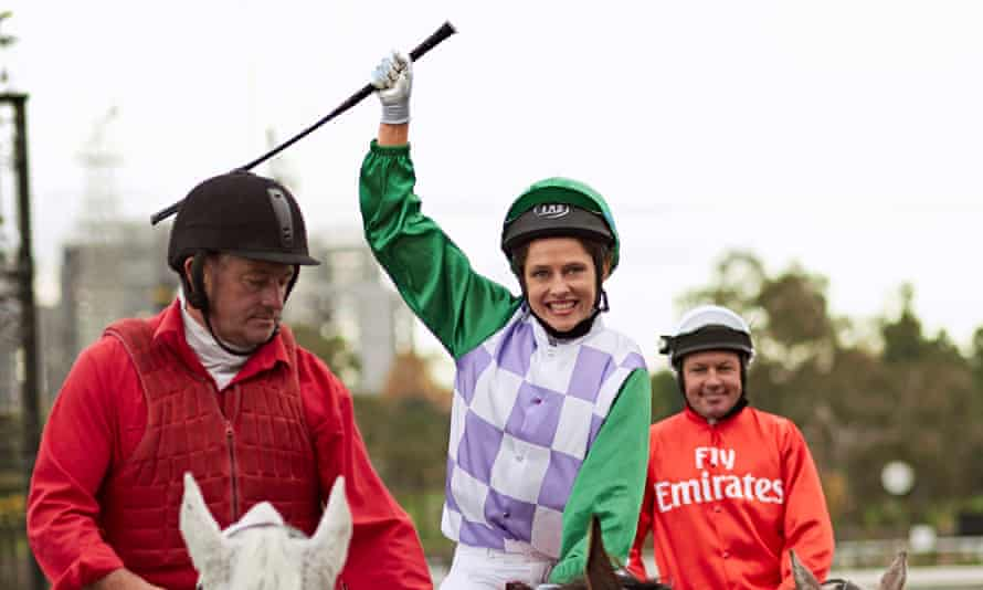 Teresa Palmer as Michelle Payne, the first female jockey to win the Melbourne Cup.