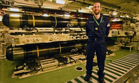 The weapons room on HMS Vigilant