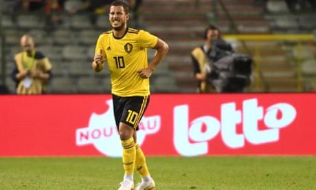 0a298e604 Eden Hazard limps off as Belgium beat Costa Rica in World Cup warm-up