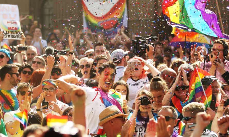 Australians celebrate the legalisation of same-sex marriage.