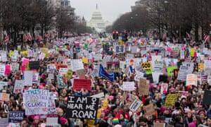 Women's March in Washington DC in 2017