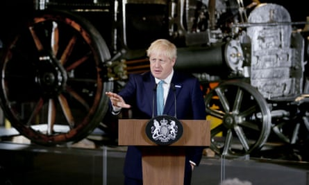 Boris Johnson speaking at the Science and Industry museum in Manchester, July 2017