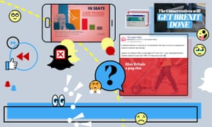 Examples of social media adverts for the general election