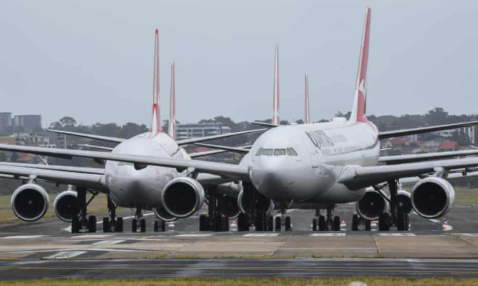 Planes at Sydney airport
