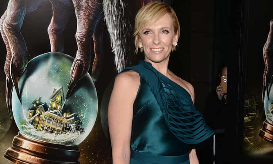 Kramping her style ... Toni Collette at a screening of festive horror Krampus.