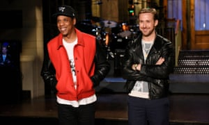 Host Ryan Gosling with musical guest Jay-Z.