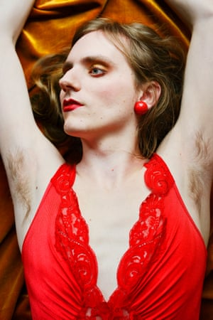 A portrait from the project Beautiful Boy by Brooklyn photographer Lissa Rivera focusing on cross dressing and femininity