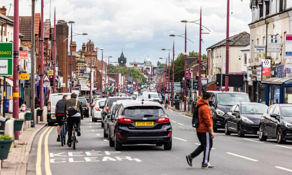 Traffic on Soho road in Birmingham