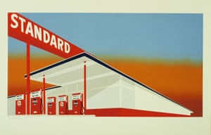 Standard Station, 1966 by Ed Ruscha.