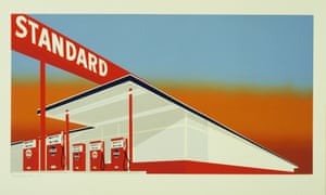Edward Ruscha, Standard Station, colour screenprint, 1966.