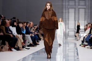 The height of fashion right now … the Chloé show, part of Paris fashion week womenswear fall/winter 2017-2018.