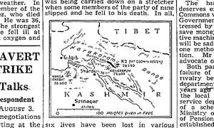 Guardian map, 4 August 1954.
