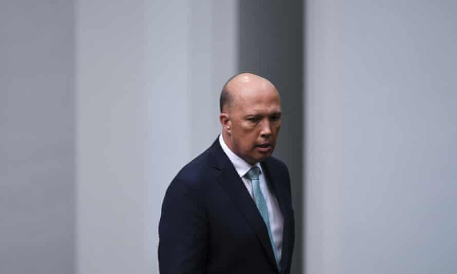 Peter Dutton arrives during a vote to adjourn the House of Representatives on Thursday.