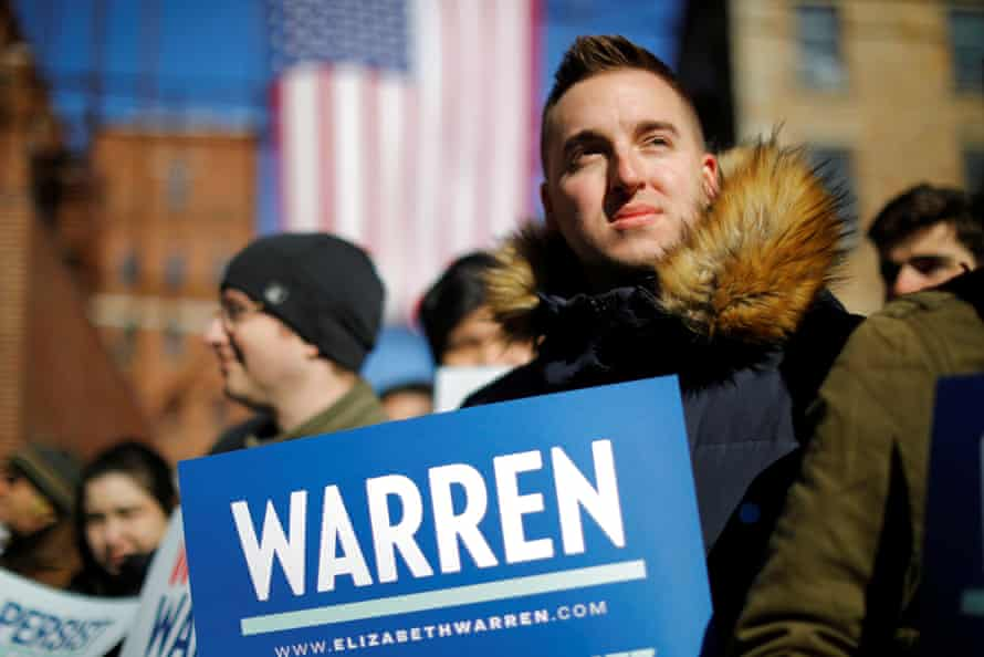 Supporters in Lawrence, Massachusetts.